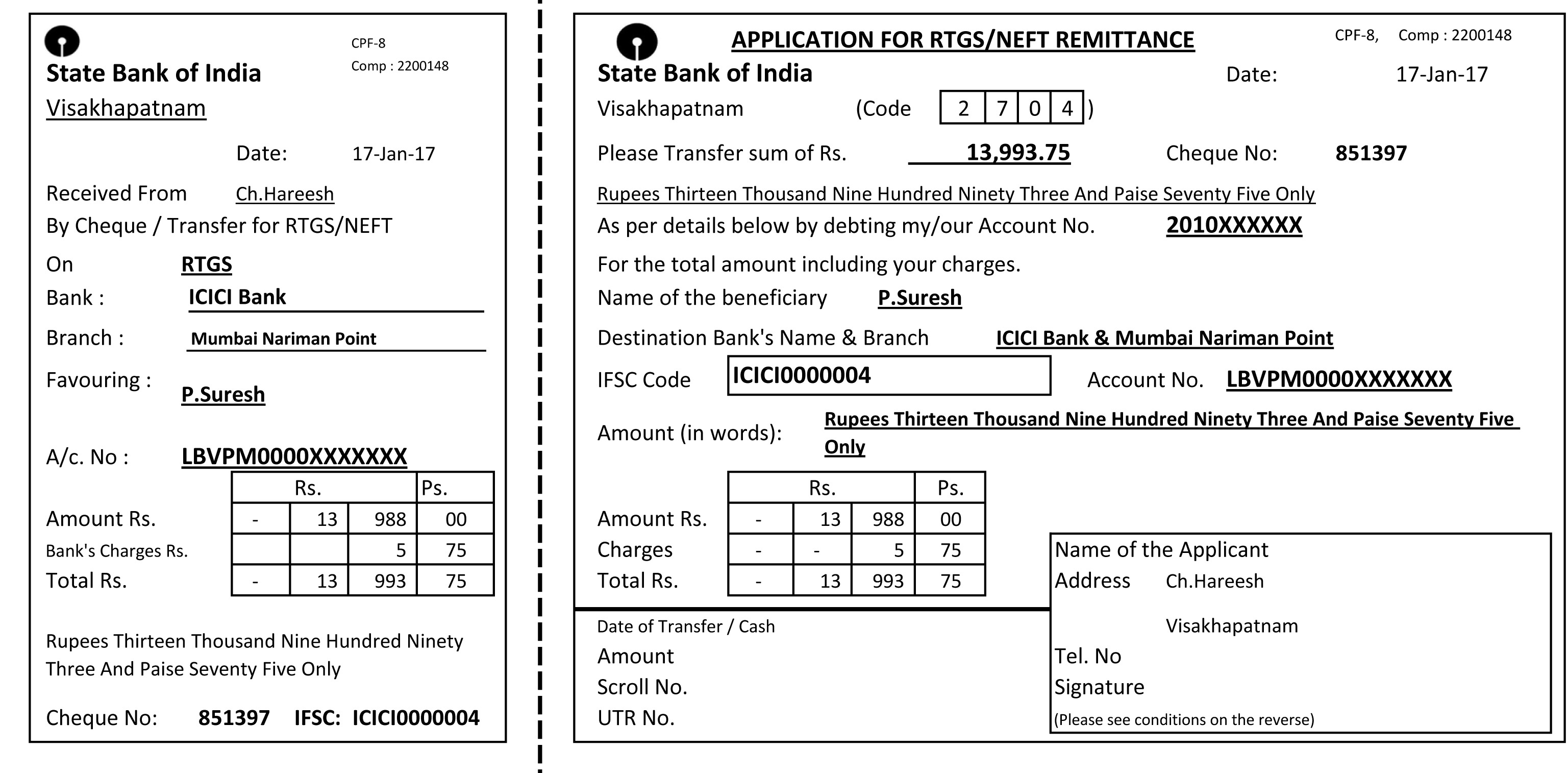 bank rtgs form pdf