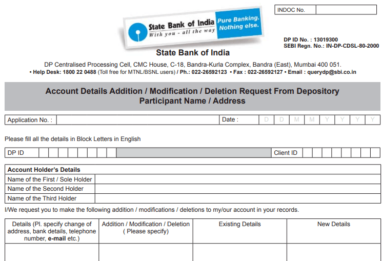online sbi how to change mobile number